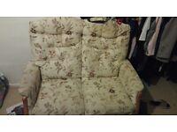 Beige/ cream 2 seater sofa