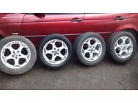 """FORD MONDEO MK4 16"""" ALLOYS X 4 2008 + GOOD CONDITION ,TYRE GOOD BAR ONE.215/55R16"""