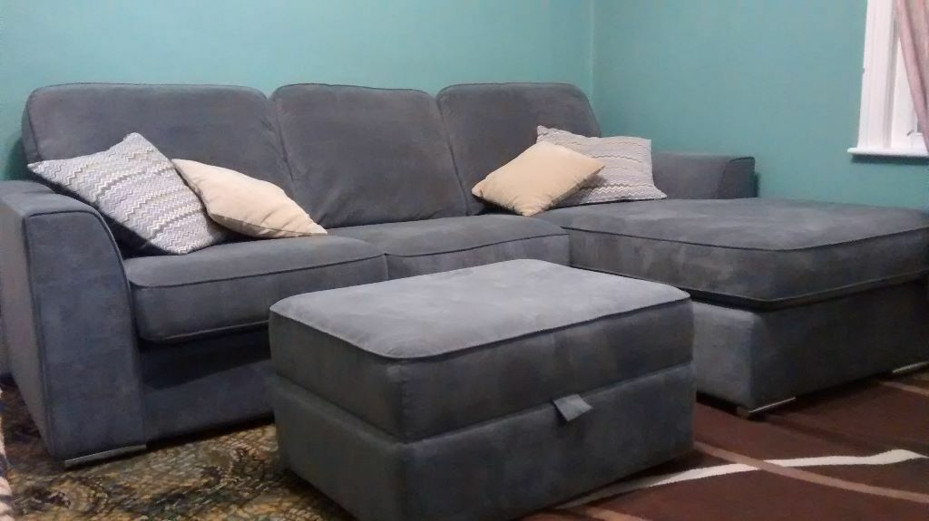 Sofa With Footrest Leather Sectional Sofa