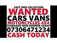 💷 SELL MY CAR VAN 4x4 CASH WAITING ANY CONDITION WANTED DAMAGED SCRAP NO MOT COLLECT TODAY HUTTON