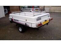 GENERAL PURPOSE /CAMPING CAR TRAILER 6FT X 4FT with removable top and rack 750kg