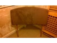 Headboard for double bed (brown suede)