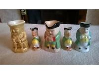 5 Very Mini Toby Jugs
