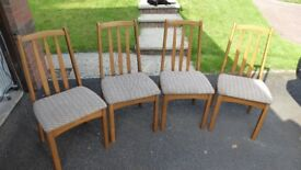 Set four dining chairs