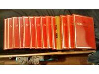 SET OF NEW CAXTON ENCYCLOPEDIAS VOLUMES 2,3,4,5,7,12,13,14,15,16,19,19 AND 20