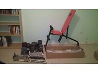 Full home gym set up worth £225 - make me an offer