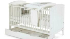Mamas and papas cot bed (never used) with free brand new mattress