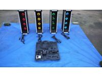 Four Stage Light boxes with Junction Box, Cables and NJD MC4E Light Controller
