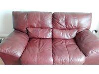 Free 2x two seater leather sofas