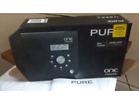 Pure one classic DAB radio in black. Offers welcome.