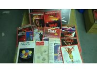 MANY MAGAZINES FROM 1990s - BYTE, WIRED, EDGE, TIME, THE ECONOMIST - MINT CONDITION - All for £20