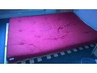 Futon mattress and its base