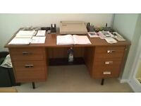 For Sale Wooden desk with Leather adjustable Swivel chair