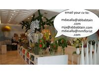 MASTER FLORIST AND SENIOR FLORIST URGENT REQUIRED TO WORK IN GULF STATE OF KUWAIT