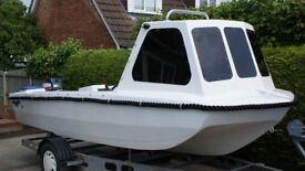15ft Dory Fishing Boat + Alko Braked Trailer + 25HP