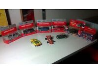 Welly Die cast toy cars - Mini Coopers, black taxi and bus, brand new boxed, central London bargain