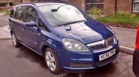 ZAFIRA CLUB.MOT 1YEAR,LOW MILEGE.1.6 NANUAL 7SEATER.NO RUST.FSH.2100£