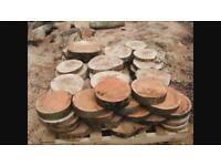 log stepping stones real wood wedding table chargers