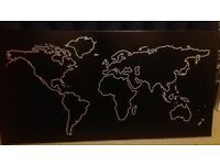 Large crystal Map Of The World on Canvas