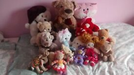 large selection cuddley/character toys/teddies