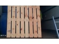 Wooden Sections Ideal Fencing