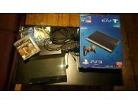 PlayStation 3 PS3 500GB super slim black with 5 games BUNDLE