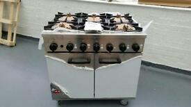Burco commercial titian catering 900 mm gas range cooker.
