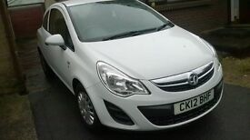 vauxhall corsa, 2012, 1.0, white, excellent clean condition, surplus to requirements,
