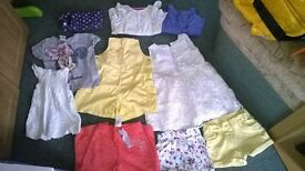 Bundle of 10 girls clothes age 1-2 years