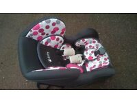 Baby weaver isofix car seat in pink trim