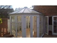 Conservatory for sale Professionally dismantled. Numbered panels, entry door, french doors, roof.