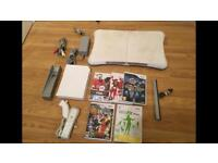 Wii Console Complete With Wii Fit Board & 5 Games £30 no offers