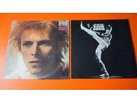 2 X DAVID BOWIE ORIGINAL VINYL LP'S SPACE ODDITY MAN WHO SOLD THE WORLD