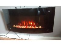 wall mounted fire with remote
