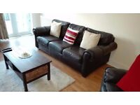 Leather sofa 3-seater