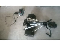 E- Caddy electric golf trolley, well used hence low price.
