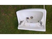 Vintage 1960's Twyford washbasin for sale