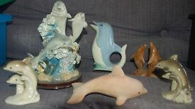 Dolphin ornaments and jug bundle/job lot