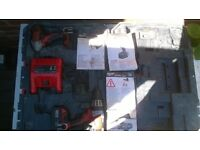 Milwaukee M18 Magnum Drill & M18 impact Gun. LION 3AH