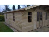 23ftx16ft cabin summerhouse built new