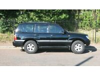 Toyota amazon land cruiser,black,estate,2001,LPG converted 7 seater, 4.7-litre, V8 petrol, 232Bhp