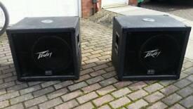 Peavey bass speaker subwoofer x2