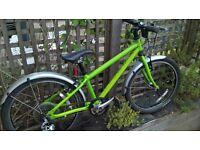 Islabike Beinn 20 Large, green, mudguards, upgraded gears, approx age 6-8