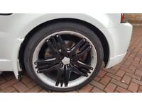"""RANGE ROVER SPORT 22"""" inch ALLOY WHEELS X4 WHITH GOOD TYRES"""