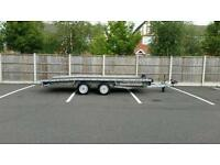 Brian James 14ft X 6ft6 tt series car transporter trailer with winch still under Warrenty bargain
