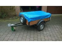 """car trailer 5'x3'x16"""" with cover and spare wheel"""