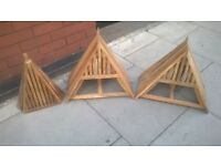 Three solid wood ornaments perhaps for garden or patio excellent central London bargain