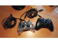Xbox 360 / PC controllers, gamepads (pair)