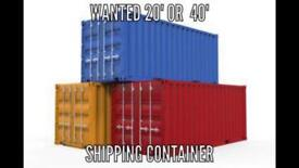 Wanted!! Shipping Container
