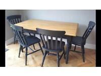 Gorgeous farmhouse table with four chairs